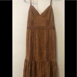 NEW w/out tags: Boutique Brown Suede Dress